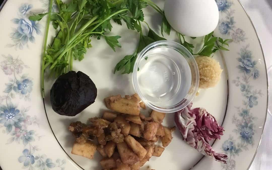 Vegetarian Seder Plate